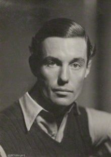 Black and white photo portrait of Peter Fleming